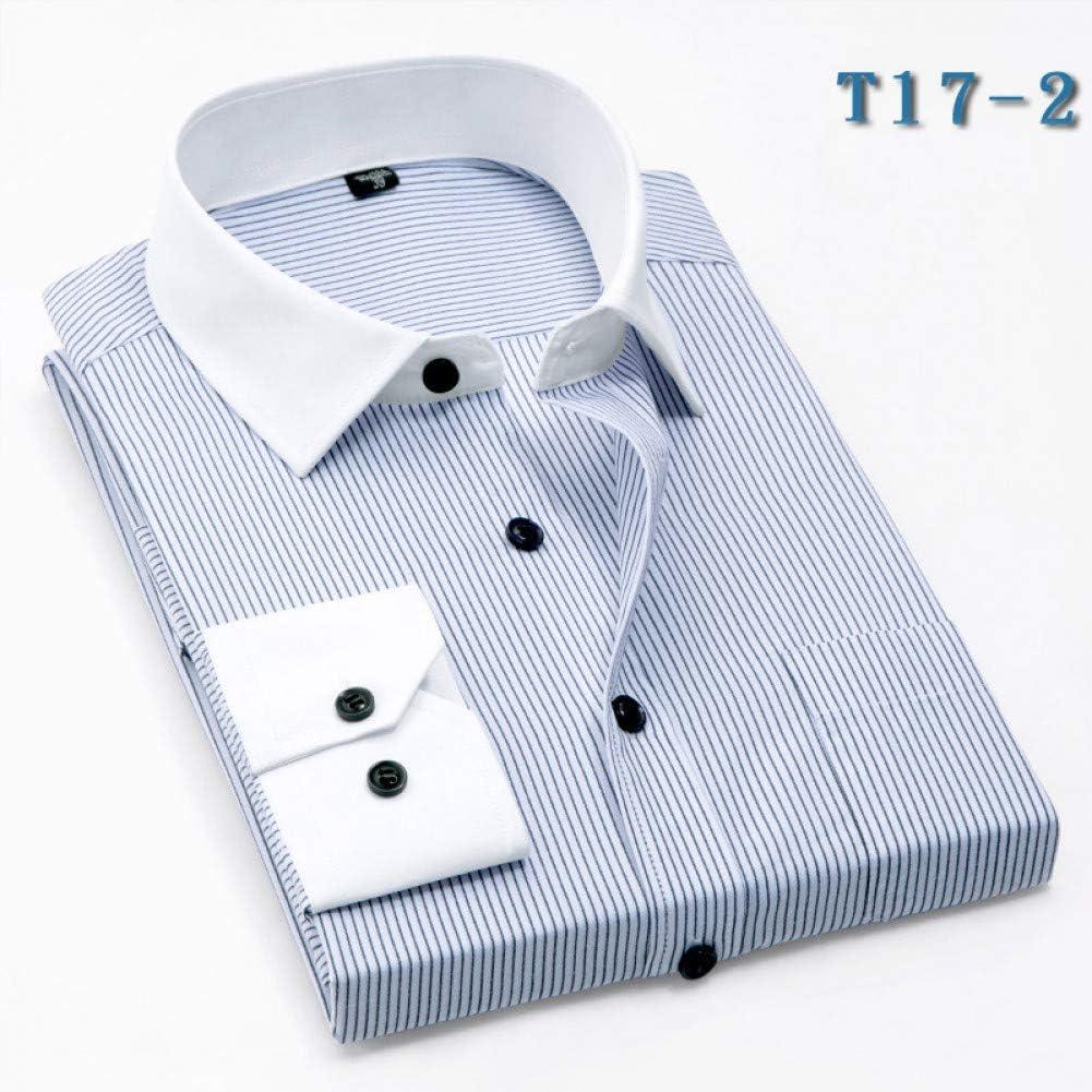CSDM Camisa de Hombre Camisas a Rayas de Cuello Blanco para ...