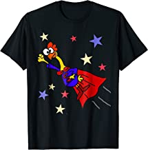 SmileteesFunny Funny Rubber Chicken Flying Superhero T-shirt