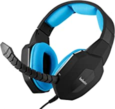 PS4 Xbox one 3.5mm Stereo Gaming Headset for Playstation 4 Xbox 1 PC Smartphone Tablet and Mac with Detachable Microphone (Blue)