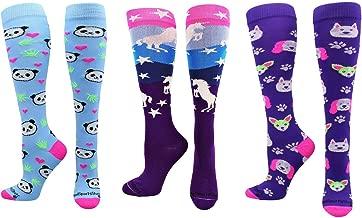 MadSportsStuff Neon Unicorn Socks Over The Calf