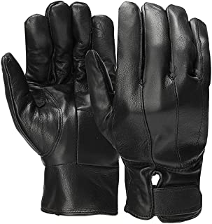 Leather Full Finger Gloves Winter Warm Motorcycle Driving