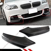 Fits for 2011-2016 BMW F10 5 Series 535i 528i Carbon Fiber M Sport Front Bumper Splitters