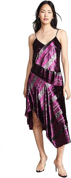 Parker Women's Selma Sleeveless v-Neck Velvet Metallic Dress