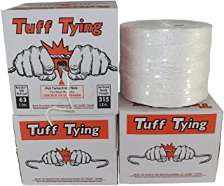 SGT KNOTS Tuff Tying Polypropylene Twine - Commercial Bundling Packaging and Center Pull Box Dispenser (2 ply - 4200ft, Wh...