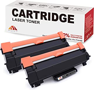 Mony Compatible Brother TN760 TN730 TN 760 730 Toner Cartridges (2 Black, with Chip) Used in HL-L2370dw MFC-L2710dw DCP-L2550dw HL-L2395dw HL-L2350dw MFC-L2750dwxl HL-L2390dw Laser Printer