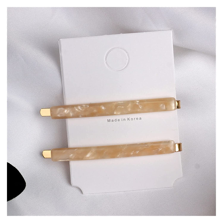 Hair Pin 2Pcs Set Fashion Metal Max 50% Max 64% OFF OFF Women Acetate : Color