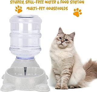 madeking Dog Water Dispenser, cat Water Dispenser,Small Animal Water Dispenser, Automatic Cat Feeders, Dog Feeding & Watering,Pet Water Dispenser for Cats and Dogs-3.5L (Auto Pet Water Dispenser)