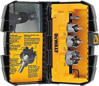 DEWALT Hole Saw Kit, Metal Cutting, Carbide, 3-Piece (DWACM1802)