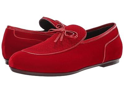 Bottega Veneta Microponza Velvet Loafer (New Red) Men
