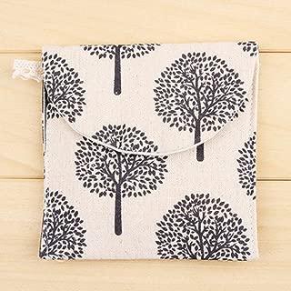 Saiyoubesten economical Cartoon Cloth Menstrual Pad Storage Bag Mama Cloth Sanitary Bag Reusable(None H02)