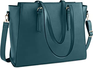 Laptop Bag for Women 15.6 Inch Waterproof Laptop Tote Bag Large Leather Computer Briefcase Womens Business Professional Of...