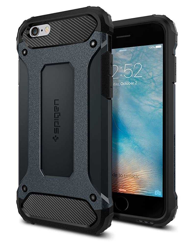Spigen Tough Armor TECH iPhone 6S Case with Extreme Shock and Drop Protection for Apple iPhone 6 / 6S - Metal Slate dsqfzxmvk0114