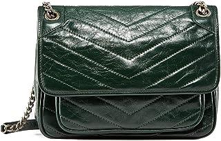 حقائب طويلة تمر بالجسم للنساء - حقائب يد كلاسيكية مع سلسلة معدنية