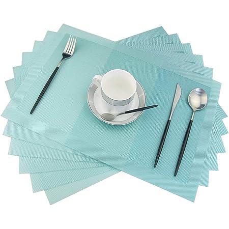 Dining Table Mats Weaved Diameter 35cm Non Placemats Slip Jacquard