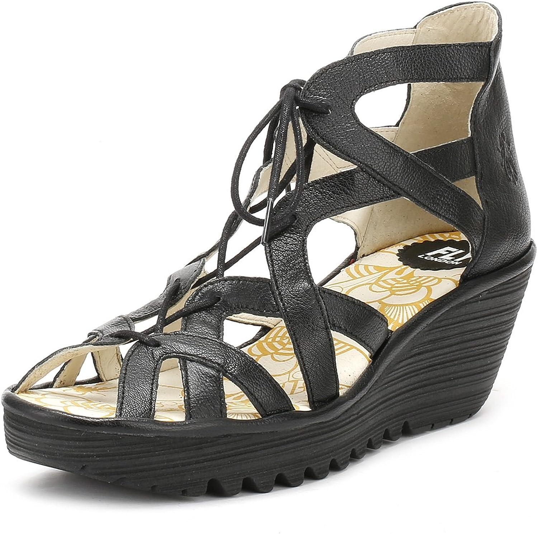 Fly London kvinnor kvinnor kvinnor YALI719FLY Wedge läder Sandaler  bästa kvalitet
