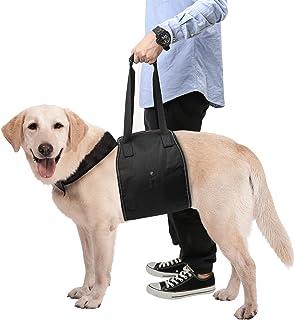 介護ハーネス Pawaboo 大型犬用 歩行補助 足腰の弱くなった老犬に 犬用介護ハーネス リード 老犬 障害犬 欠陥犬 散歩用 登山用 運動用 Lサイズ BLACK