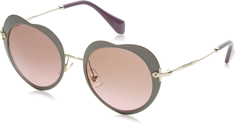 Miu Miu Women's Heart Mirrored Sunglasses