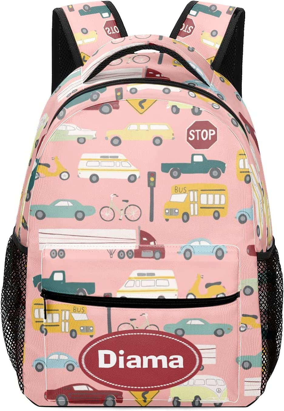 Vroom Traffic Pattern Cars It is very popular Trucks Personalized free shipping School Bus Backp