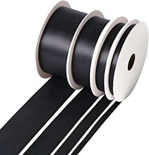Double-Face Satin Ribbons, 4 Assorted Sizes (1/4