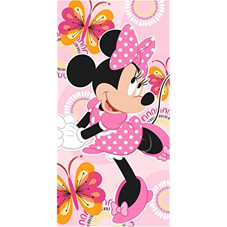 Disney Minnie Mouse serviette 70x140 serviette serviette Badehandtuch Coton