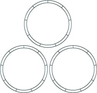 Sumind Flat Wire Rings Wire Wreath Frame Wire Wreath Making Rings for New Year Valentines Decoration (3 Pieces, 14 Inches)
