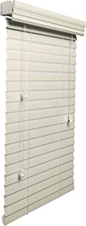 Lotus & Windoware 2-Inch Faux Wood Blind, 23 by 36-Inch, Alabaster