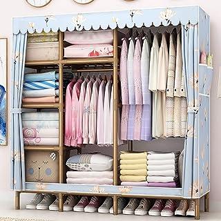 Armoire à vêtements Organisateur de rangement pour placard Support de rangement pour vêtements avec tissu non tissé, 2 poc...