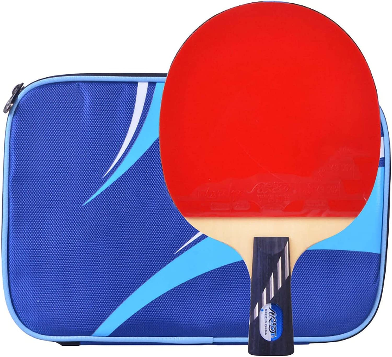 HXFENA Palas de Ping Pong,Raquetas de Tenis de Mesa Profesionales de 10 Estrellas con Excelente Control Y Giro para Entrenamiento en Interiores Y Exteriores/A/Mango corto