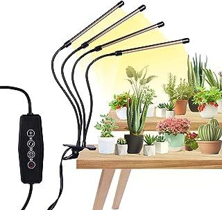 植物育成ライト 植物LEDライト 144電球 USB給電式 植物栽培ランプ 4ヘッド付き タイマー機能(3H 6H 12H) 5段階調光 380nm-800nmフルスペクトル 自動オン/オフ 360°グースネック 防水IP44 COB 日照不足...