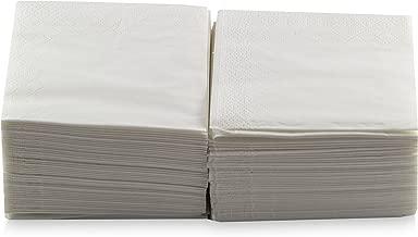 Saten Coktail, Servilleta 20x20, 2 capas, pliegue 1/4, 100 servilletas, lisa con cenefa Blanca