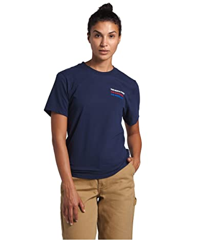 The North Face Freedom Short Sleeve Tee (TNF Navy) Women