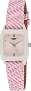 Casio Womens Quartz Watch, Analog Display and Leather Strap