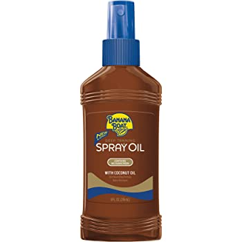 Banana Boat Deep Tanning Oil Spray with Coconut Oil, Reef Friendly - 8 Ounce (Pack of 3)
