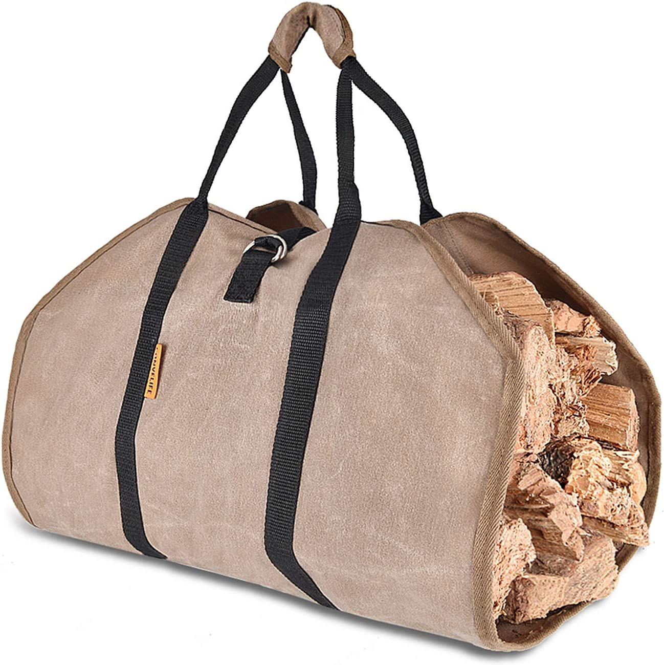 Xtingmeme Waxed Sale High quality item Canvas Log Carrier T Durable Fireplace Firewood