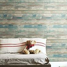 ديكور ورق جدران لاصق لون قشرة الخشب من رووم ميتس