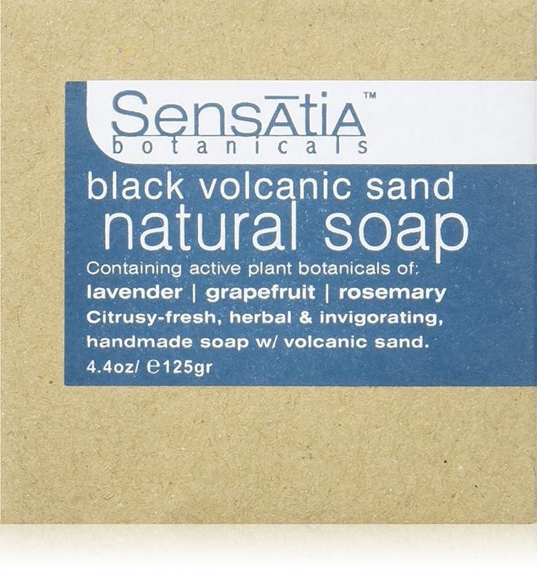 マインドフルエコー静かにSensatia(センセイシャ) フレーバーソープ ブラックボルカニックサンド 125g