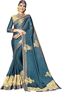 Indian Sarees for Women Designer Party Wear Traditional Color Sari.