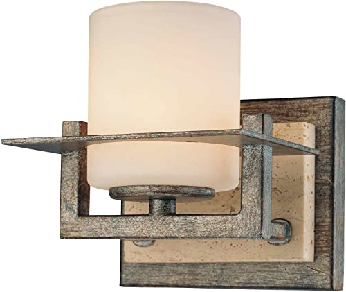 discount Minka Lavery Wall Sconce new arrival Lighting 6461-273, Compositions Glass Wall Lamp Fixture, 1 Light, lowest 75 Watts Halogen, Iron online