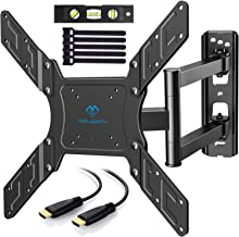 PERLESMITH TV Wall Mount for 23-55 Inch TVs with Swivel & Extends - Wall Mount TV Bracket VESA 400x400 Fits LED, LCD, OLED Flat Screen TVs up to 99lbs - with HDMI Cable, Bubble Level & Cable Ties