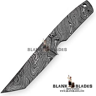 Hand Forged Damascus Steel Blank Blade 8.50