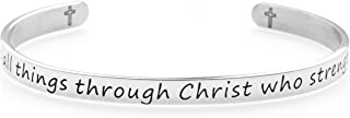 Bracelet Armband - Motivational, Spiritual and Religious Stainless Steel Jewelry for Women, Men - Classic and Elegant