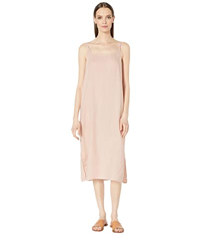 Eileen Fisher Organic Handkerchief Linen Cami Calf Length Dress (Powder) Women