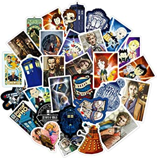 Doctor Who Waterproof Stickers for Laptop Water Bottle Luggage Suitcase Car Notebook Phone Guitar, Vinyl Stickers Pack 50 PCS