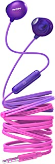 Philips Audio UpBeat SHE2305 Wired Earbuds, Natural Fit, in-line Mic - Radical Purple
