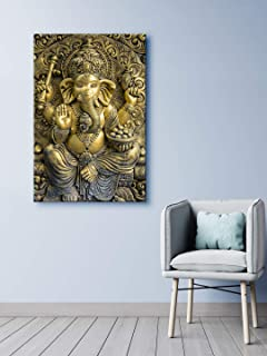 999Store Wooden Stretched God Lord Ganesha Ganpati painting ganesha paintings for wall big size art frame bed room living ...