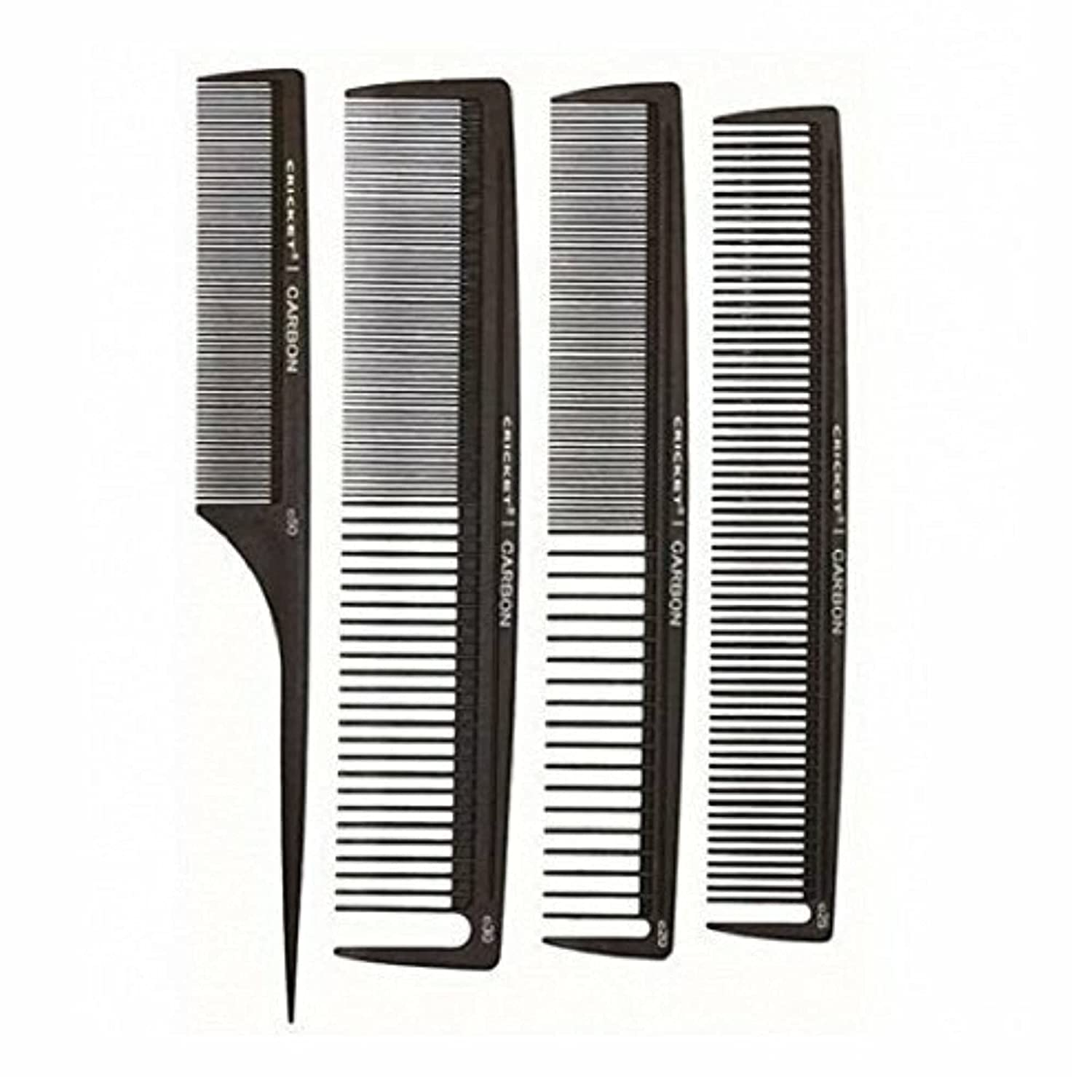 Cricket Professional Hair Stylist Carbon Styling Comb Set Anti-S