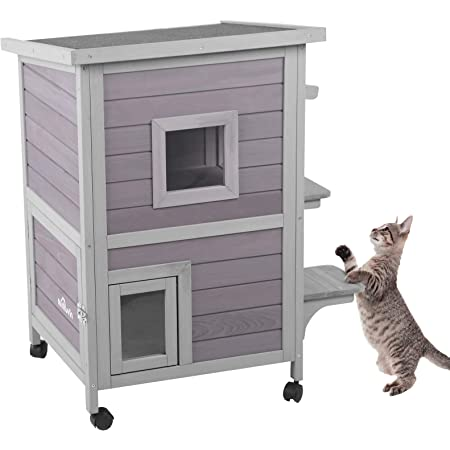 Trixie Insulated Cat Home 78 5 X 55 X 75 5 Cm Gray Whit Pet Supplies