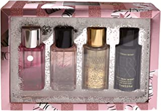 Victoria's Secret Gift Set 4 Piece Best Of Fine Fragrance Mists (Bombshell, Tease, Angel Gold, Very Sexy Night)