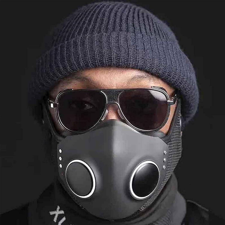 CICI Pantalla Facial de Alta tecnología, Protectores faciales de Seguridad y Comodidad resuable para Adultos, Protector Facial antivaho para Adultos (Negro)