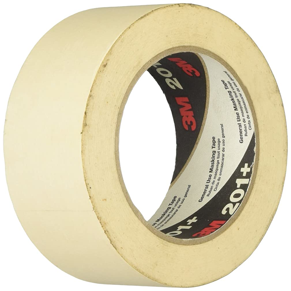 3M 70006745510 201+ General Use Masking Tape 1.88 in. W X 60 Yd, Tan-1028591, 2 Inches x 60 Yards, Tan
